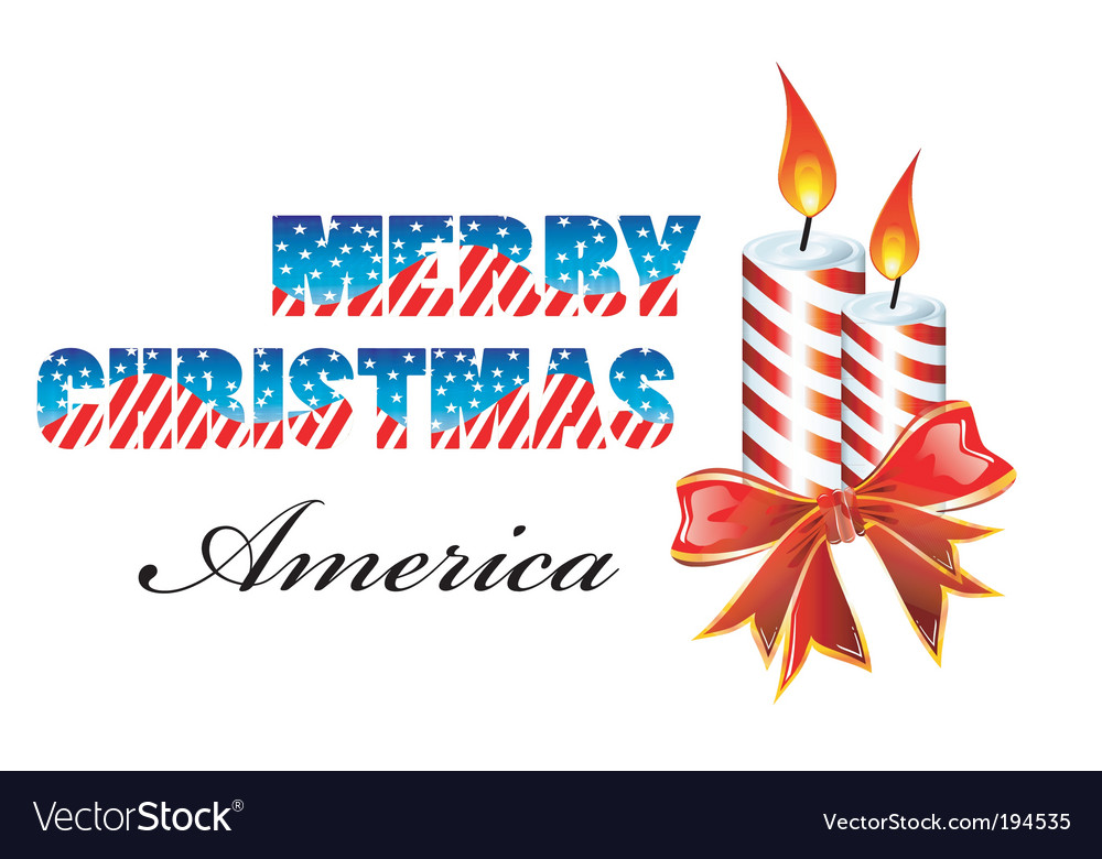 Merry Christmas America Royalty Free Vector Image