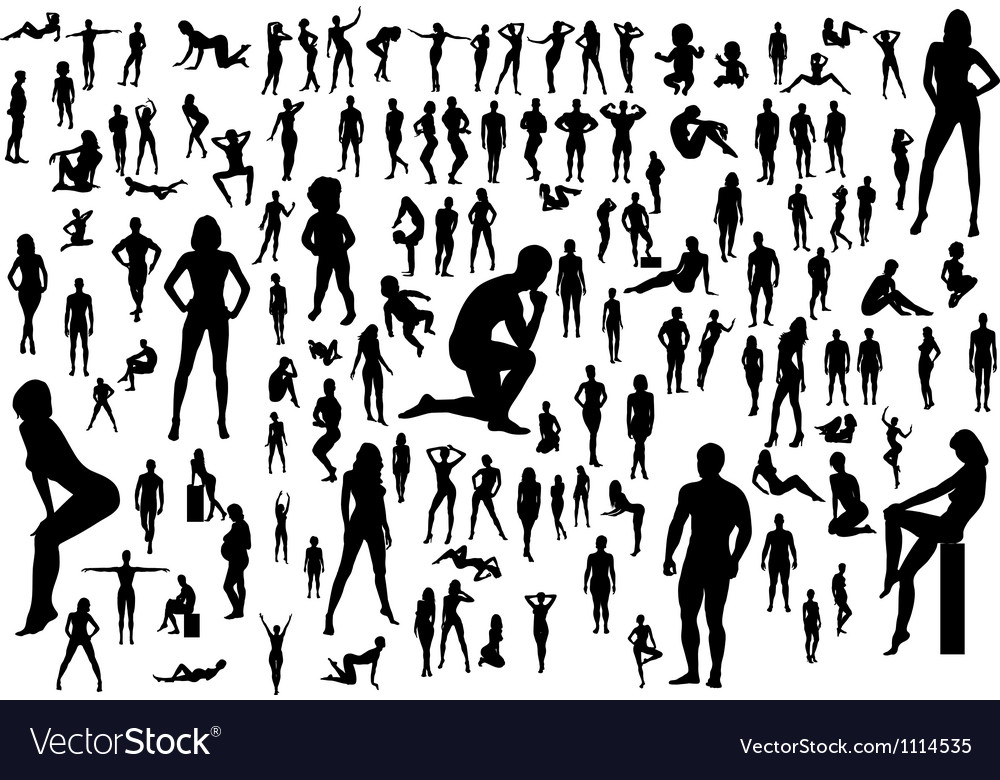 Naked vector image