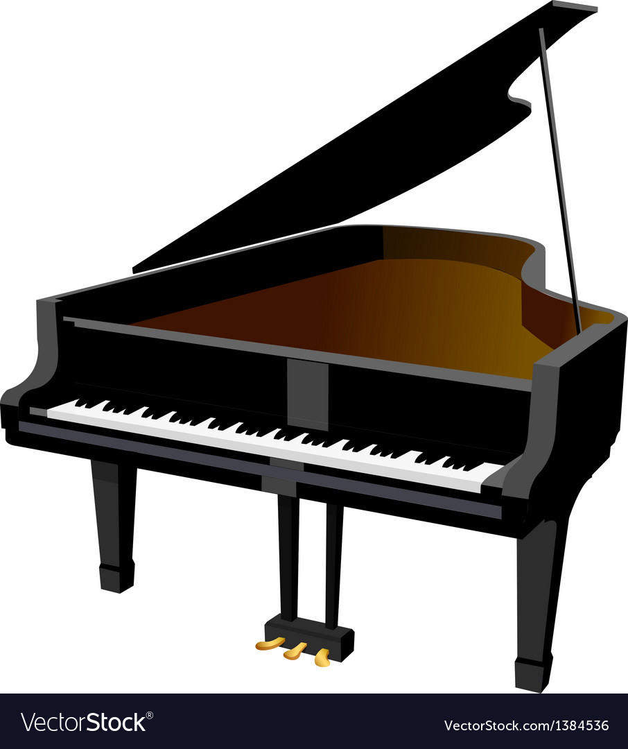 Icon piano vector image