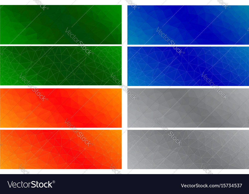 Abstract colored polygonal backgrounds vector image