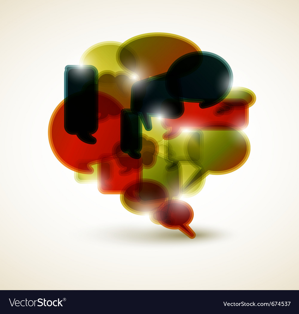 Big speech bubble vector image