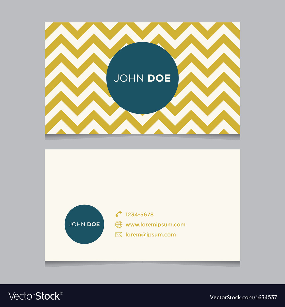 Business card pattern yellow 01 vector image