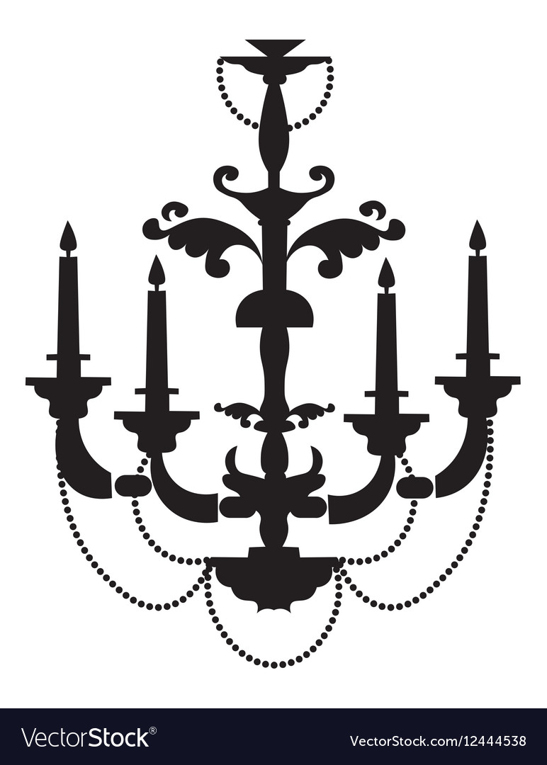 Classic baroque chandelier royalty free vector image classic baroque chandelier vector image aloadofball Images