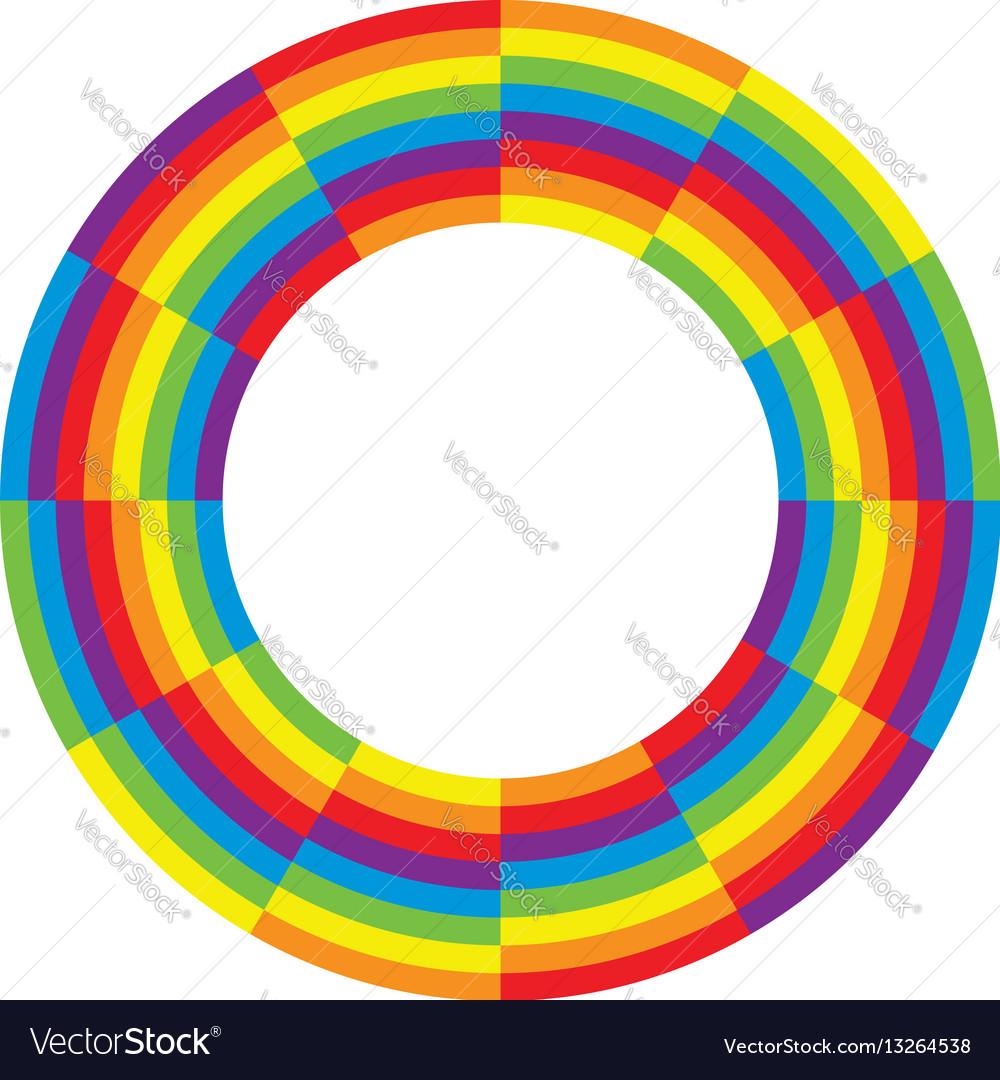 Rainbow round wheel circle vector image
