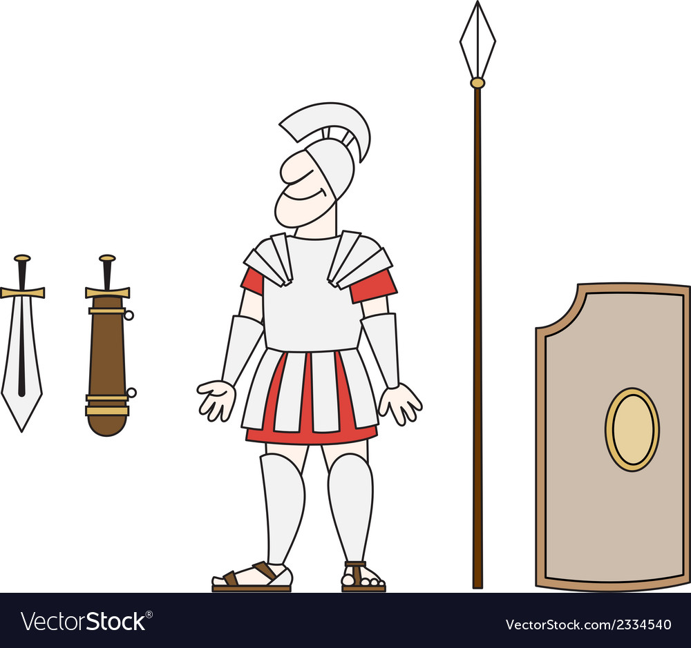 Ancient warrior vector image