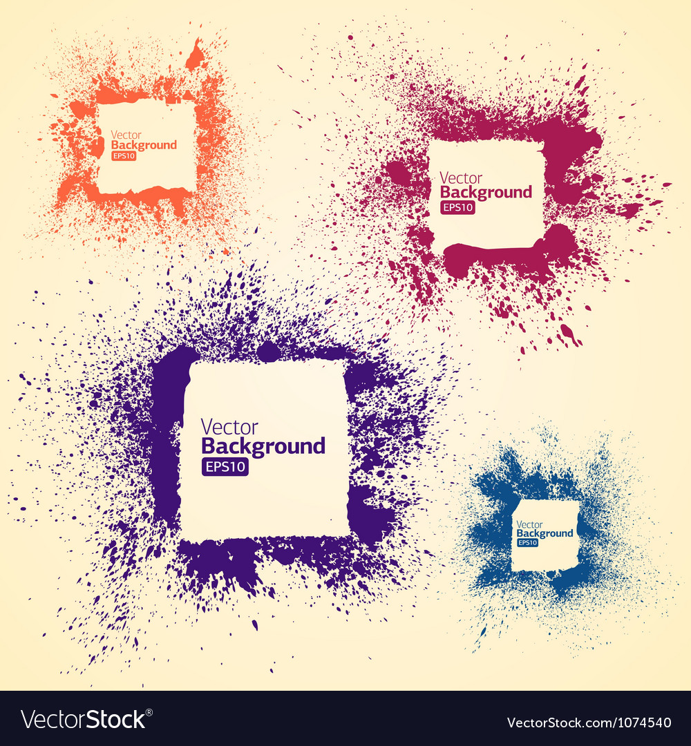 Color frames in a grunge vector image