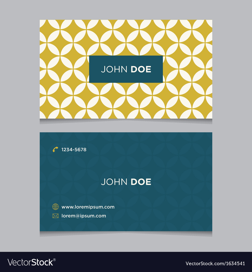 Business card pattern yellow 03 Vector Image