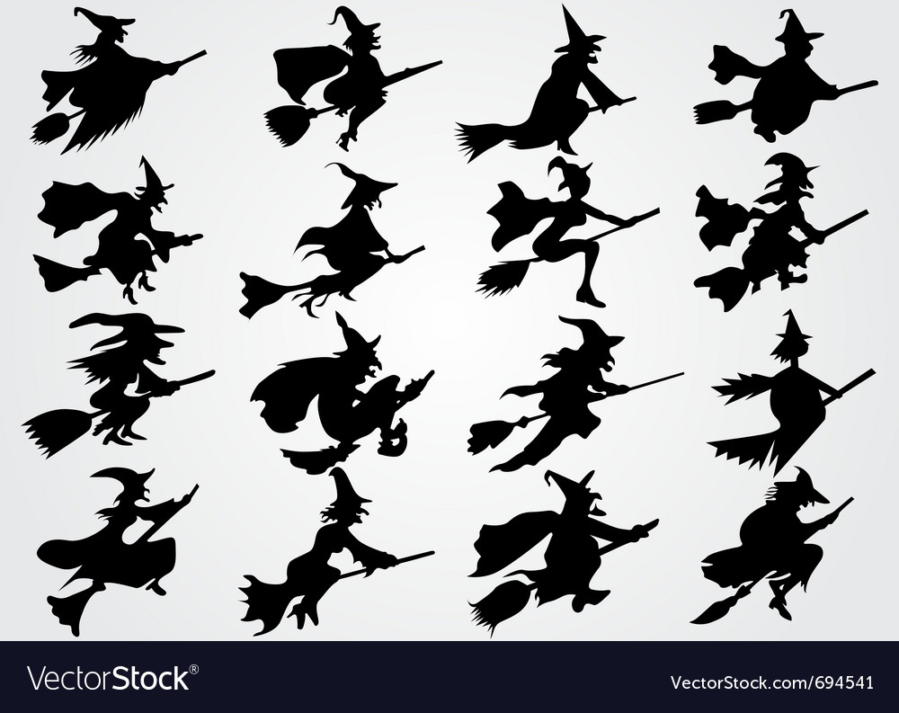 Witches Vector Image