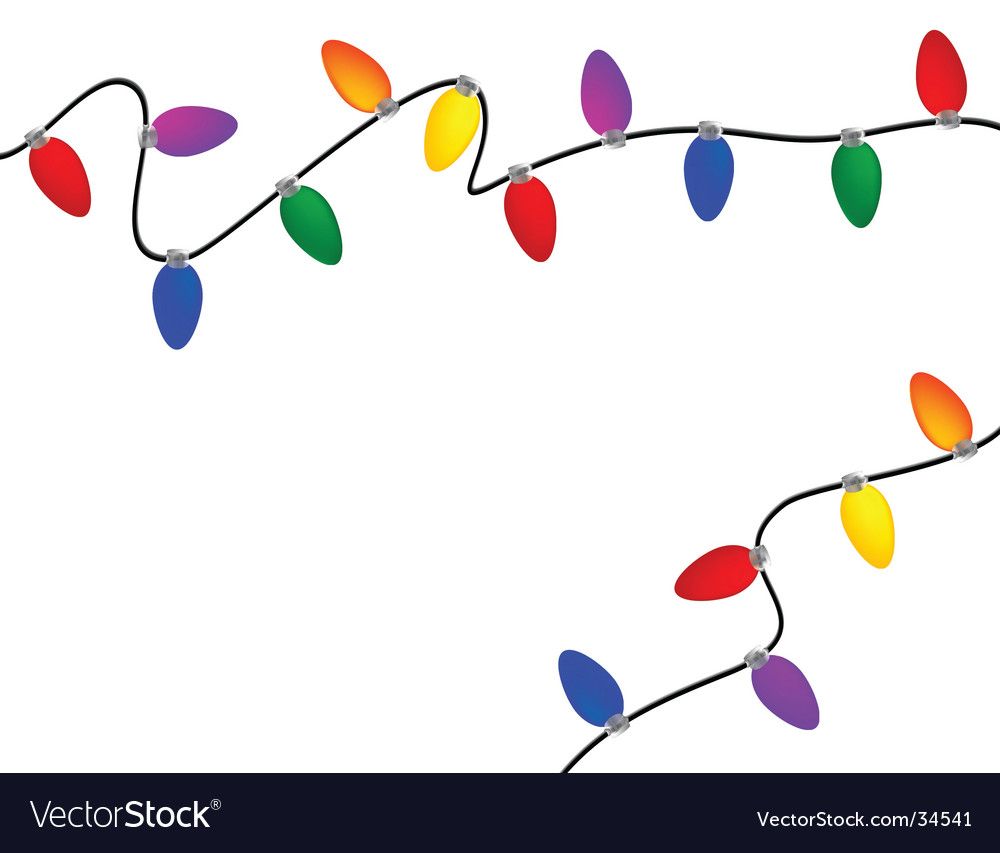 Christmas Lights on Christmas Lights Vector 34541 By Lyzard914
