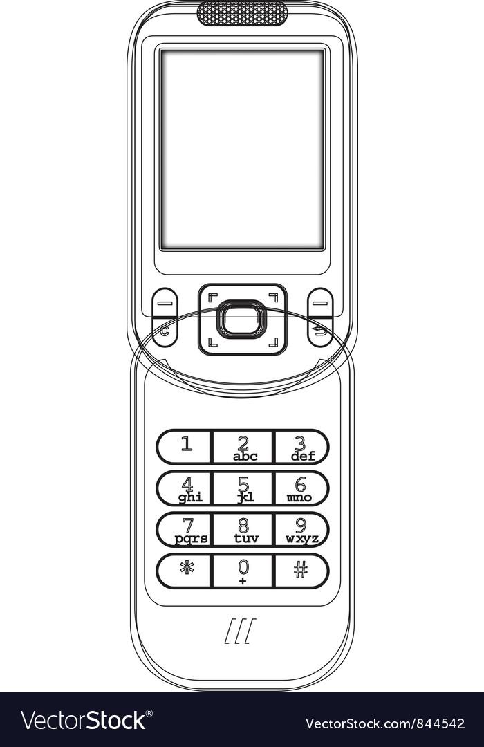 Modern Mobile Phone vector image