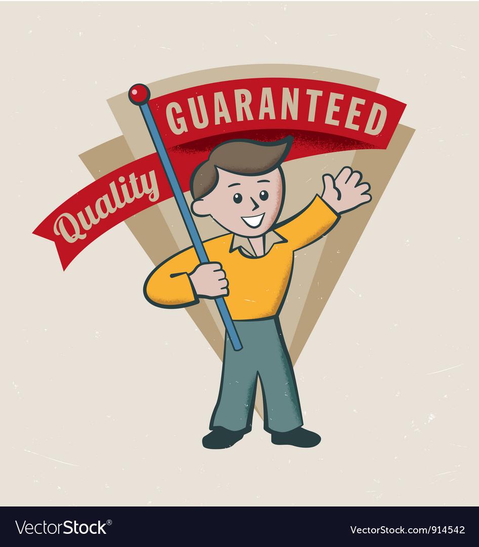 Retro vintage guarantee label vector image