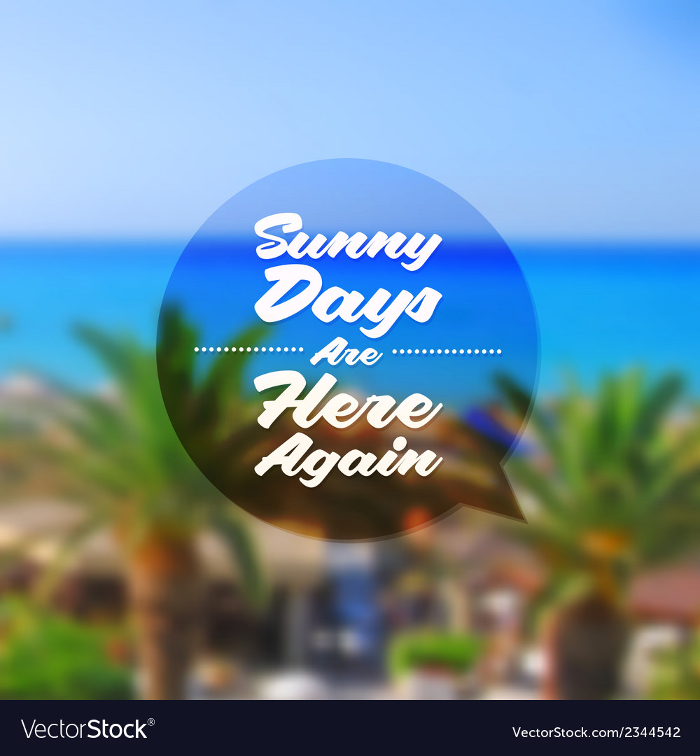 Summer vacation type design vector image