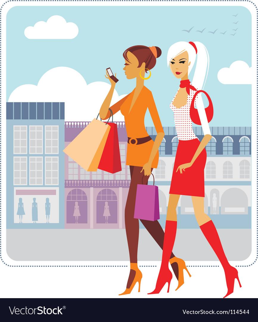 Urban ladies vector image