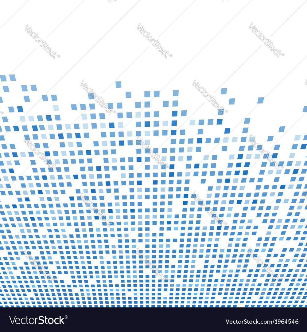 Modern tile background template in blue Vector Image