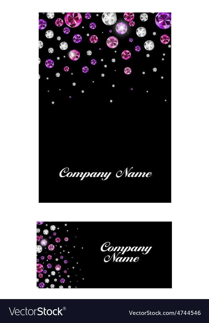 Abstract luxury black diamond business card vector image colourmoves Gallery