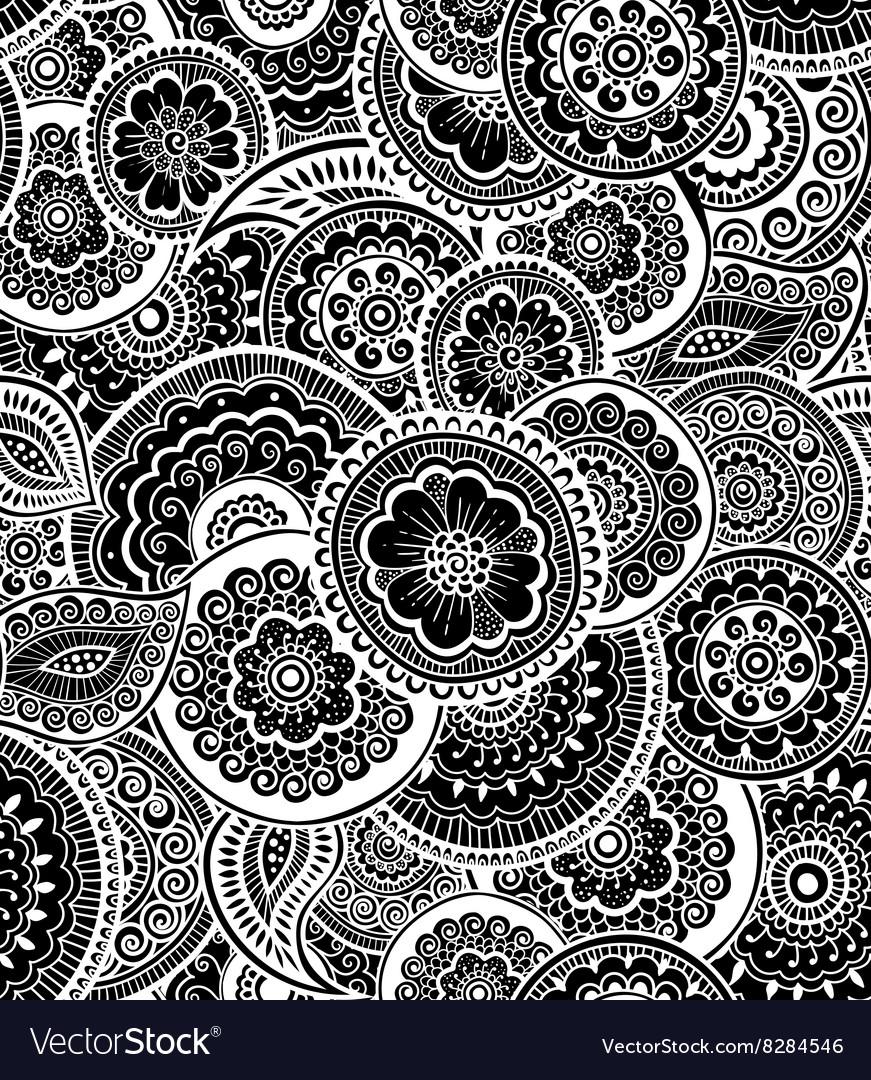 Decorative seamless pattern Zen-tagle style vector image