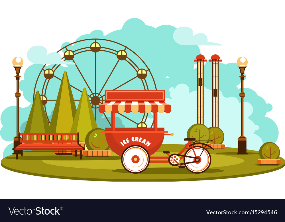 Park of entertainments vector image
