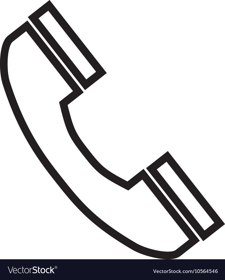 Telephone handset phone vector image