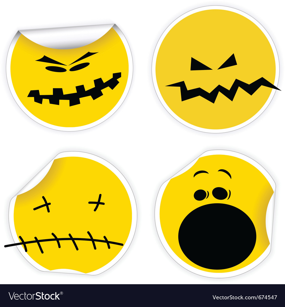 Halloween stickers Royalty Free Vector Image - VectorStock