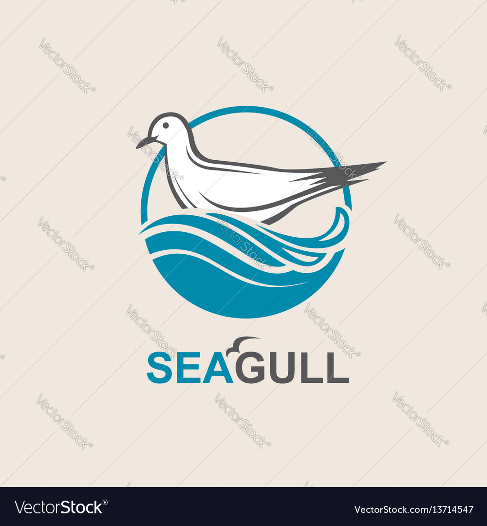 Icon of seagull vector image