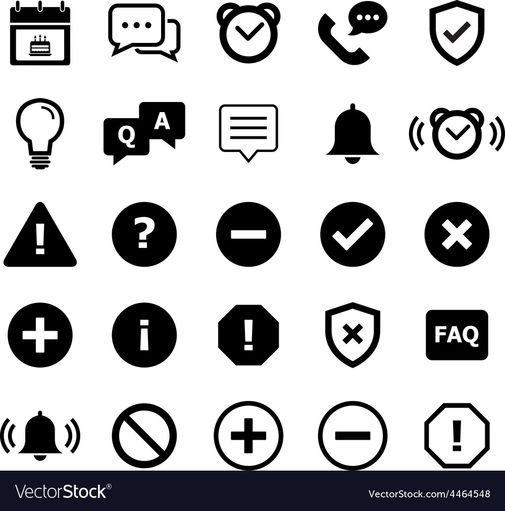 Notification Icon vector image