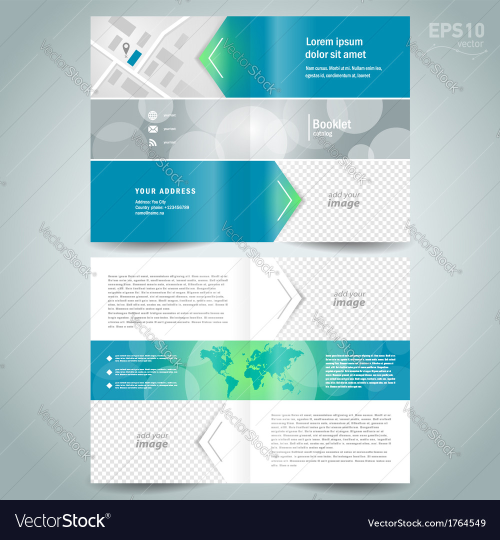 Booklet Template Design Brochure Arrow Line Vector Image - Brochure booklet templates