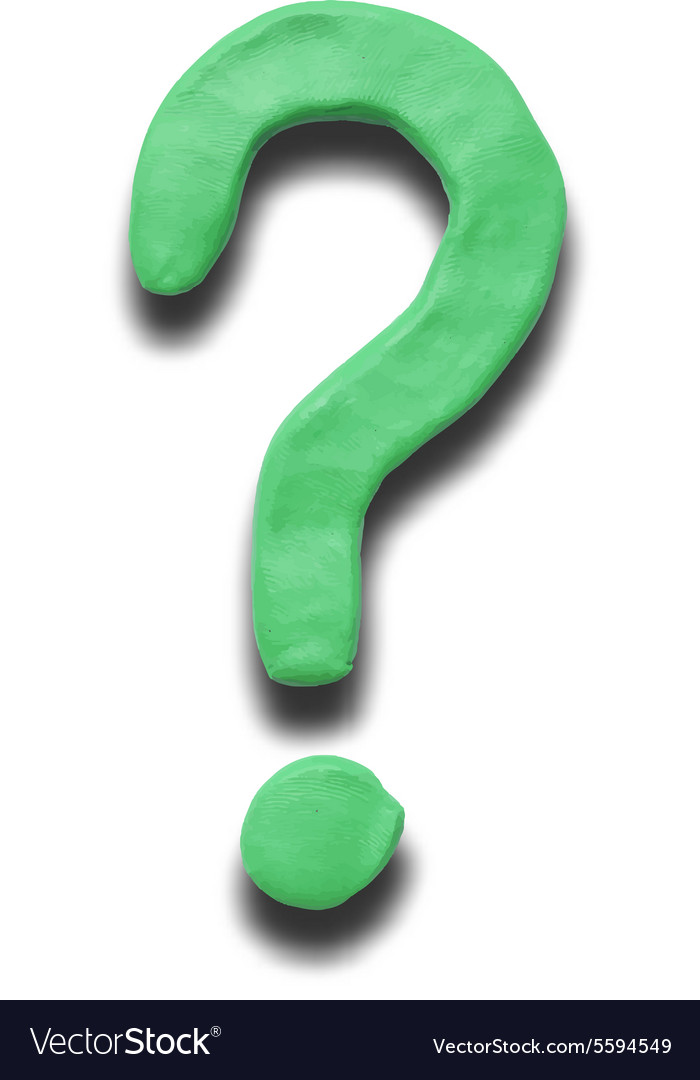 Green Question mark vector image