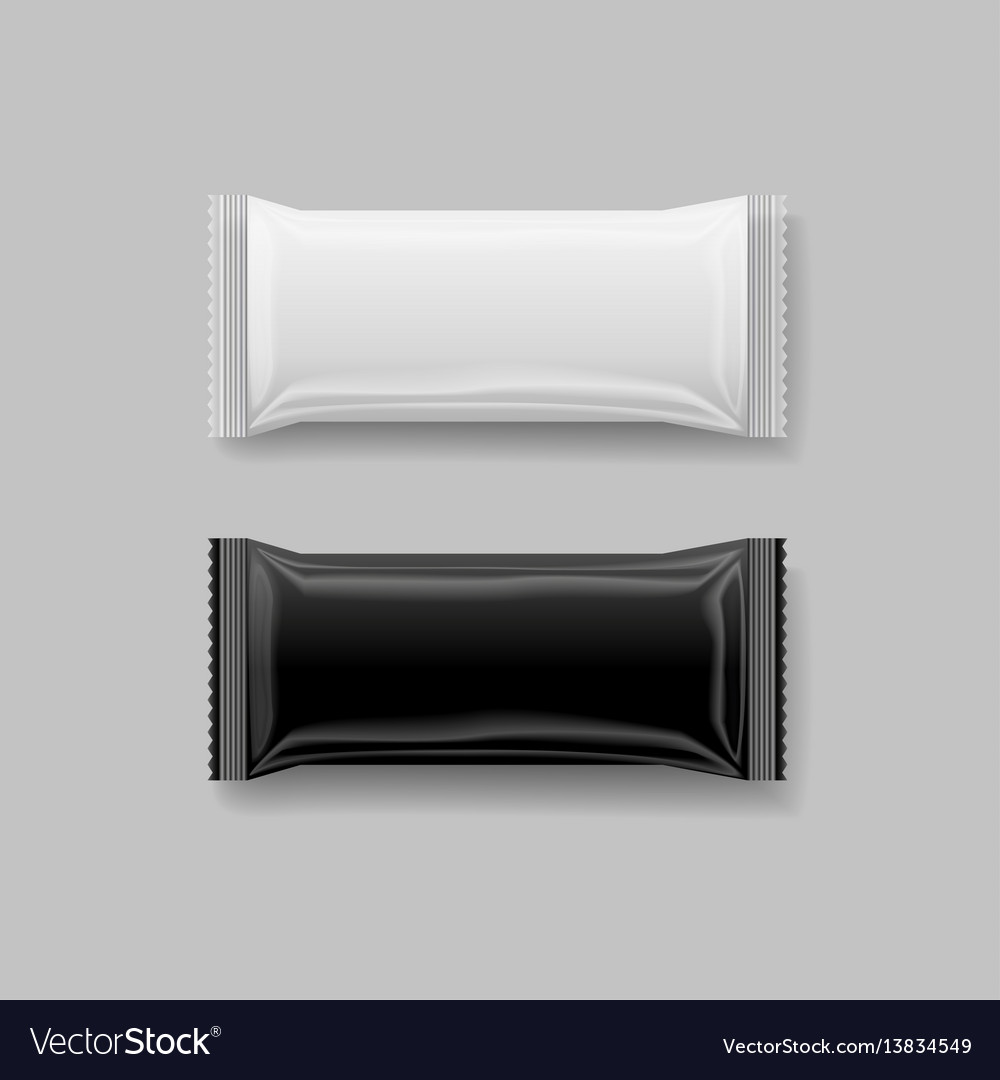 Snack package black amp white 3 d vector image