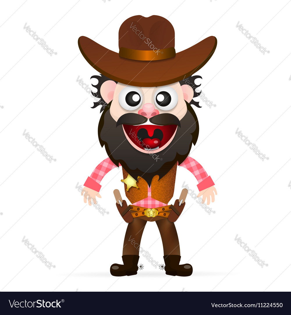 Cool cowboy is waiting for vector image
