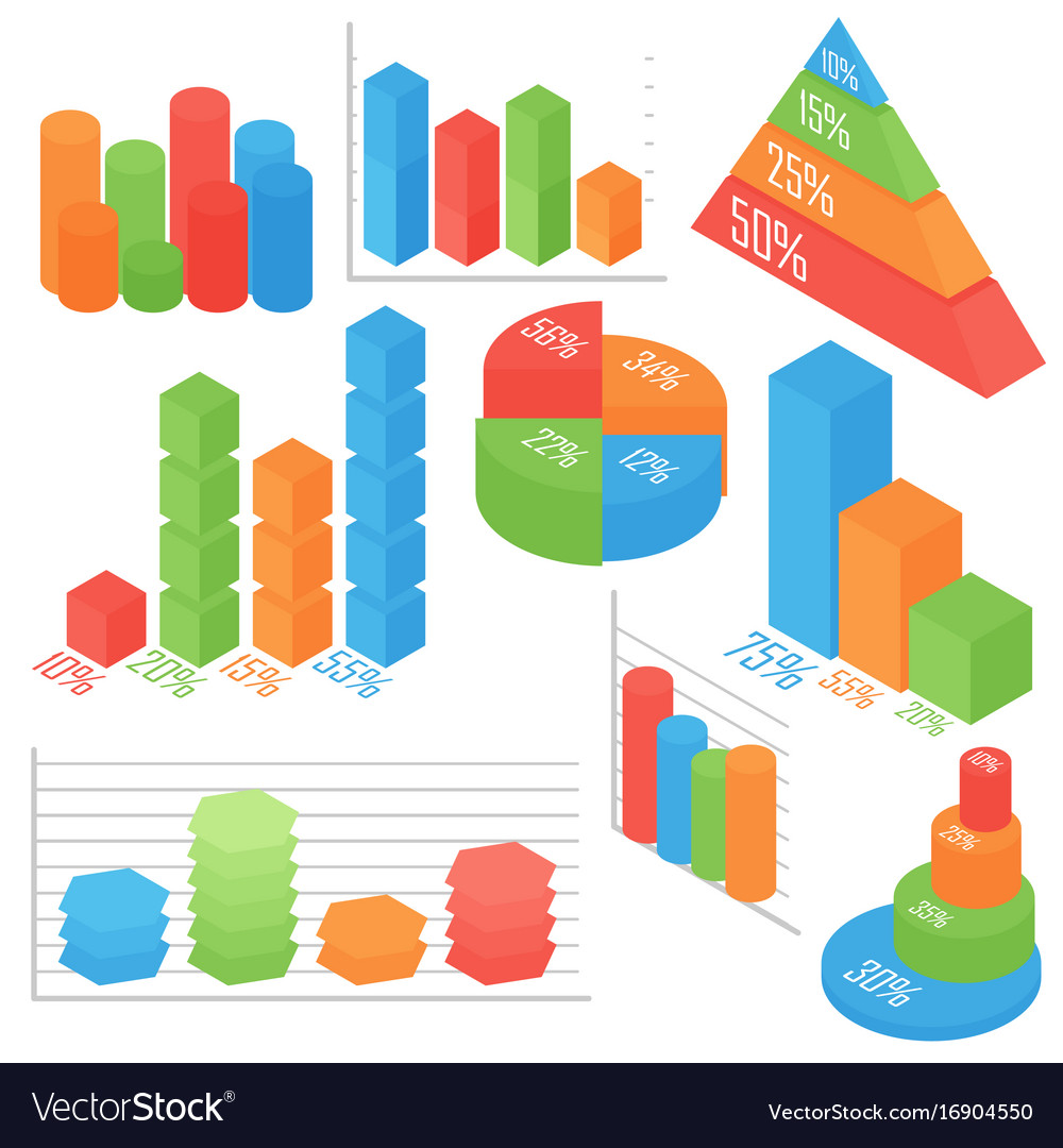 Isometric of business and vector image