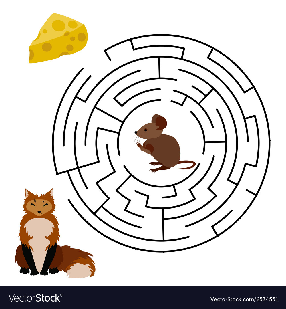 Maze Labyrinth education Game vector image