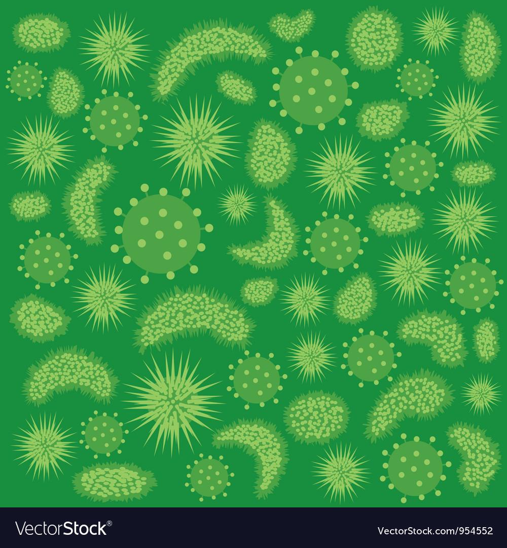 Green virus vector image