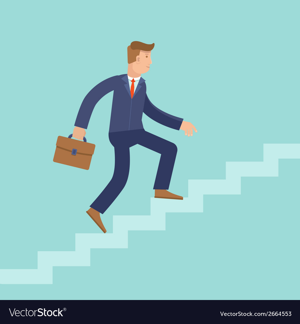 Career concept in flat style vector image