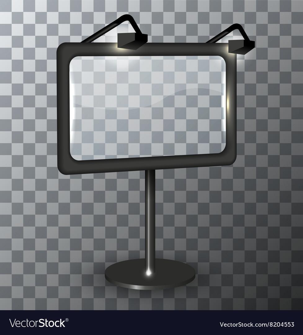 Modern urban billboard on transparent vector image