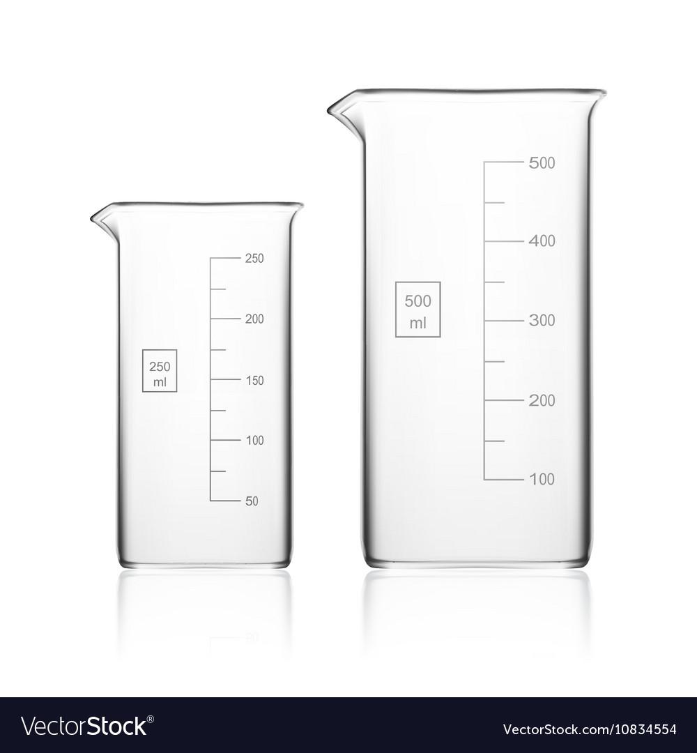 Chemical Laboratory Glassware Or Beaker Glass vector image