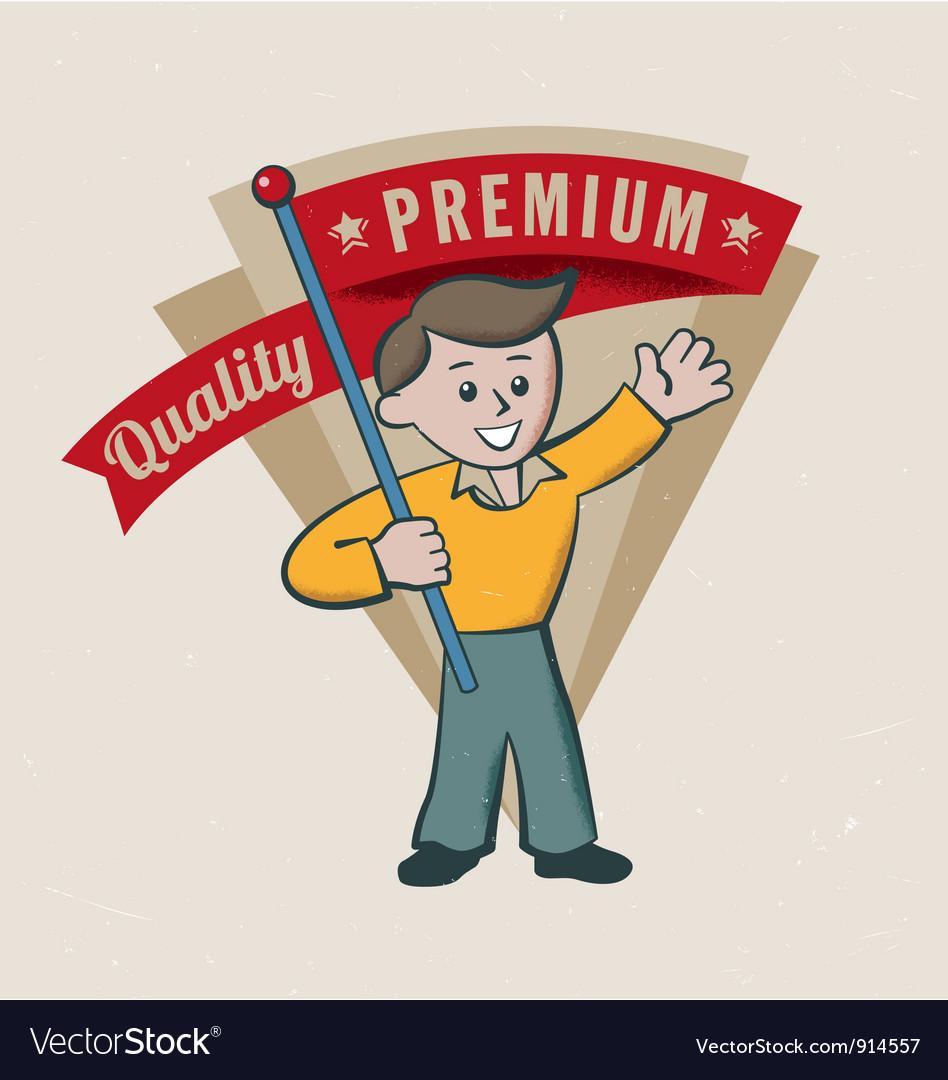 Retro vintage premium label vector image