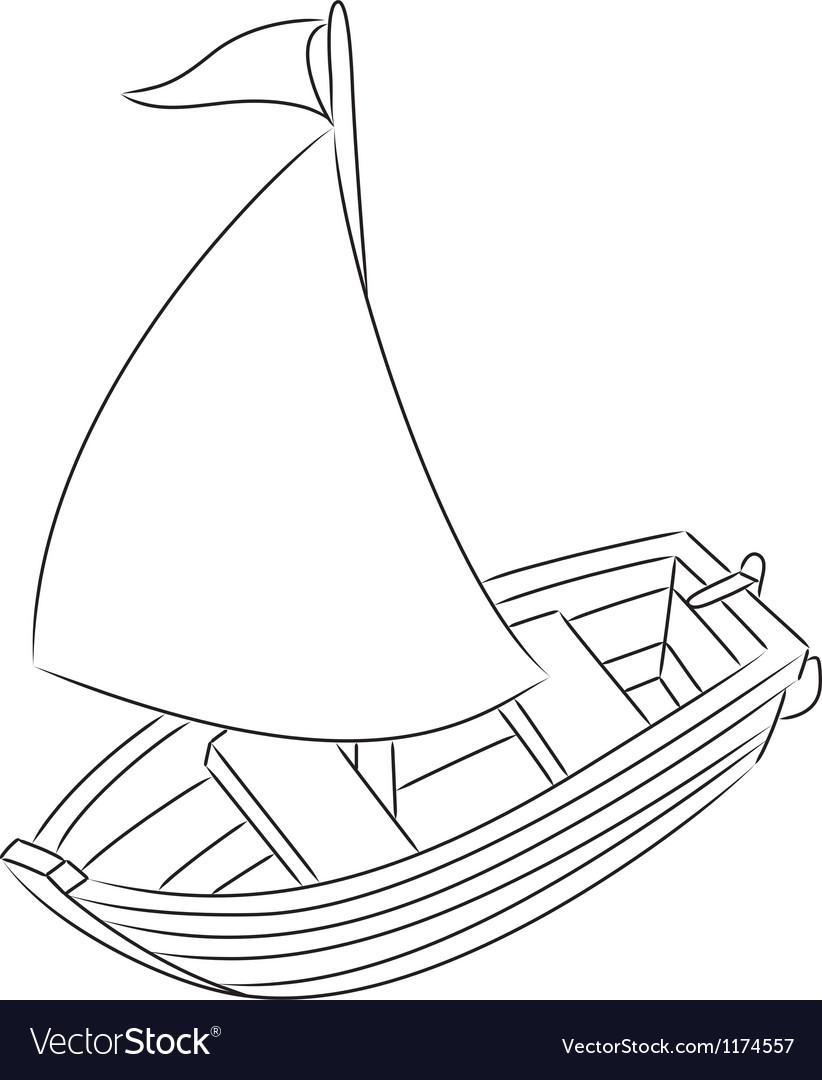 sailboat royalty free vector image vectorstock