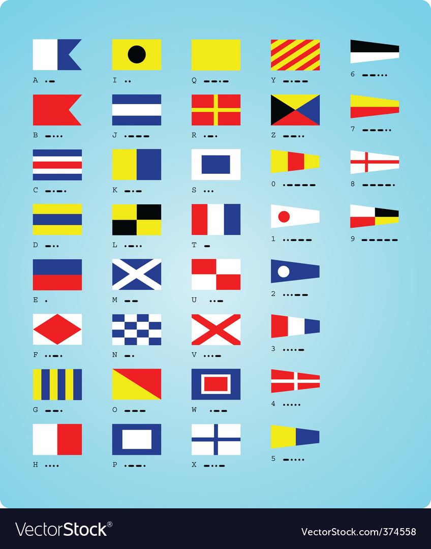 Sea alphabet vector image