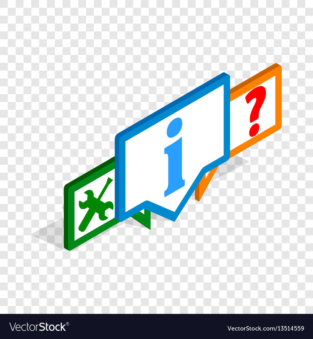 Technical support isometric icon vector image