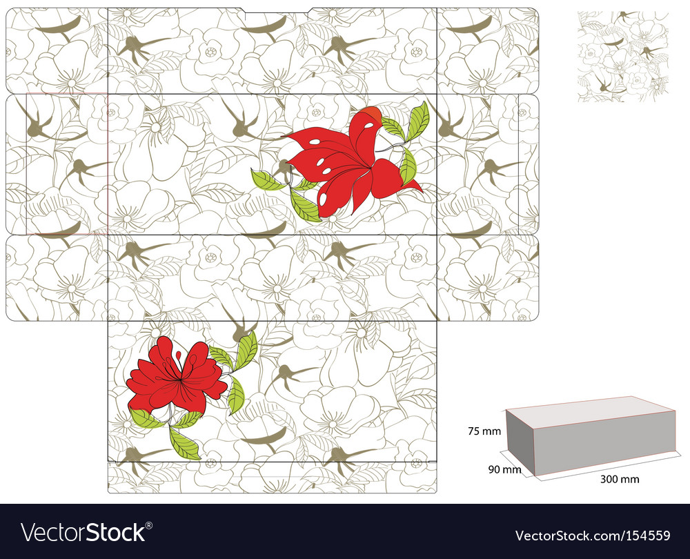 Template for box vector image