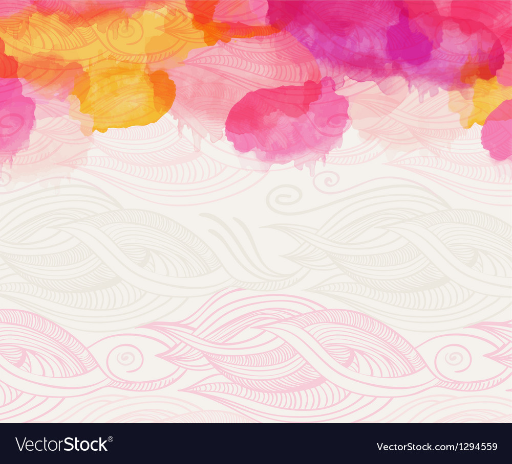 Watercolour abstract background vector image
