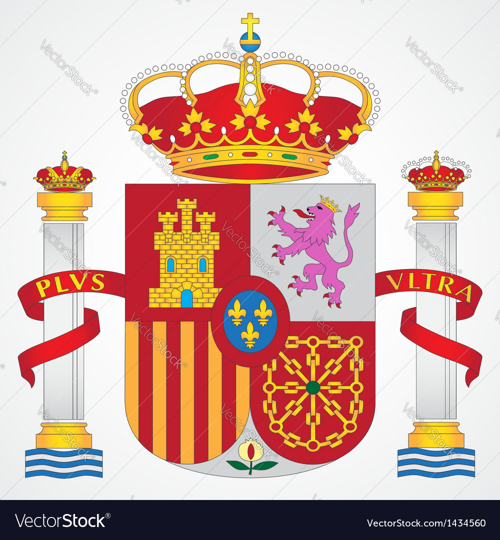 Coat of Arms of Spain Royalty Free Vector Image