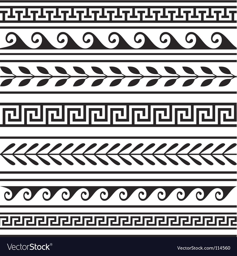 Set of geometric borders vector image