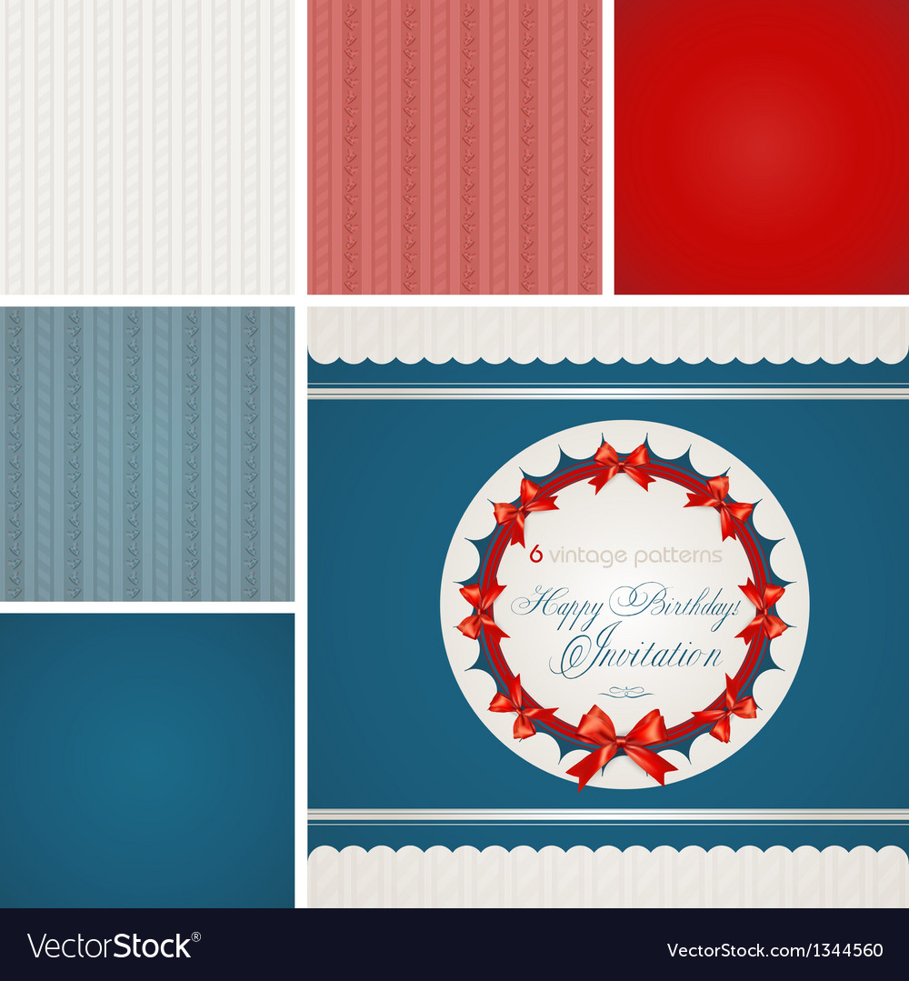 Vintage Retro Patterns vector image