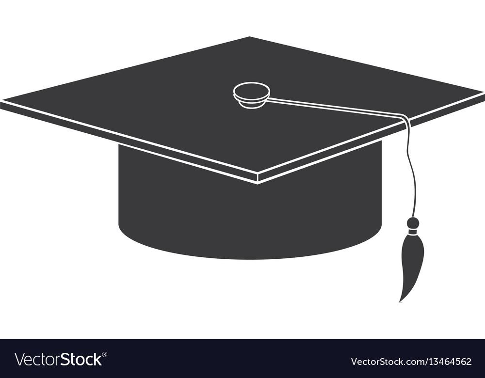 Black graduation hat icon vector image