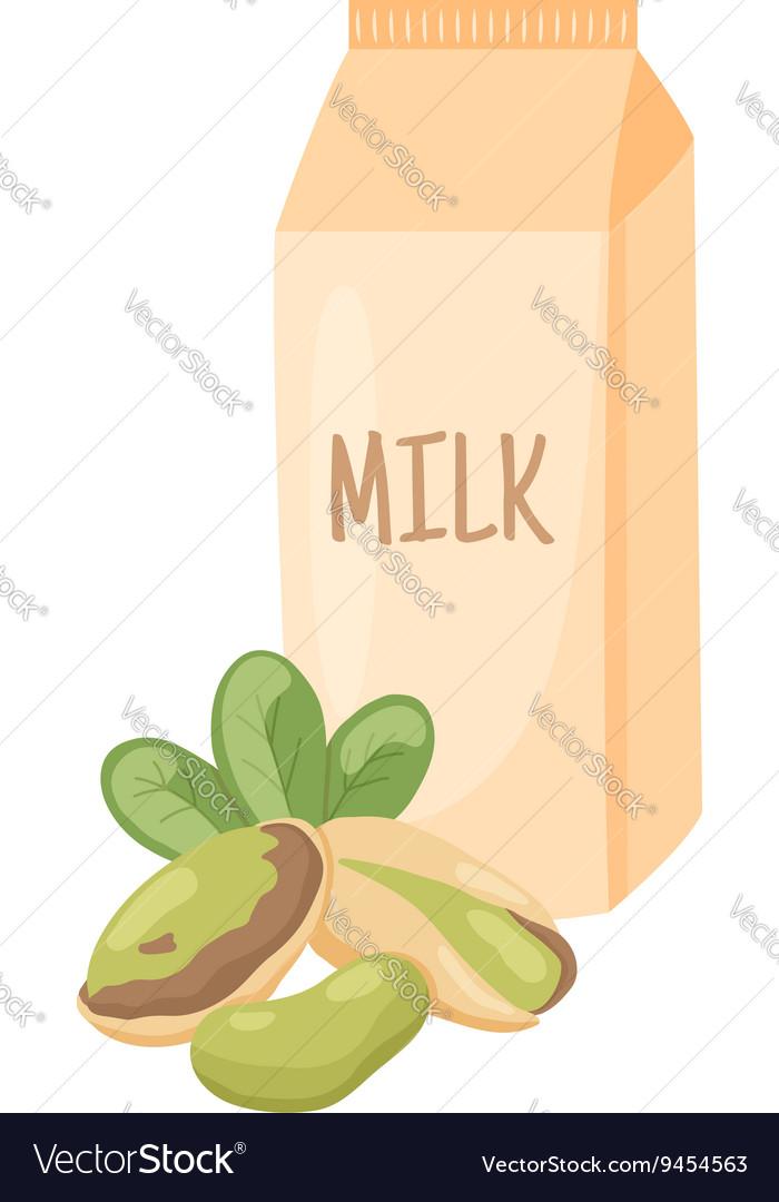 Pistachio milk vector image
