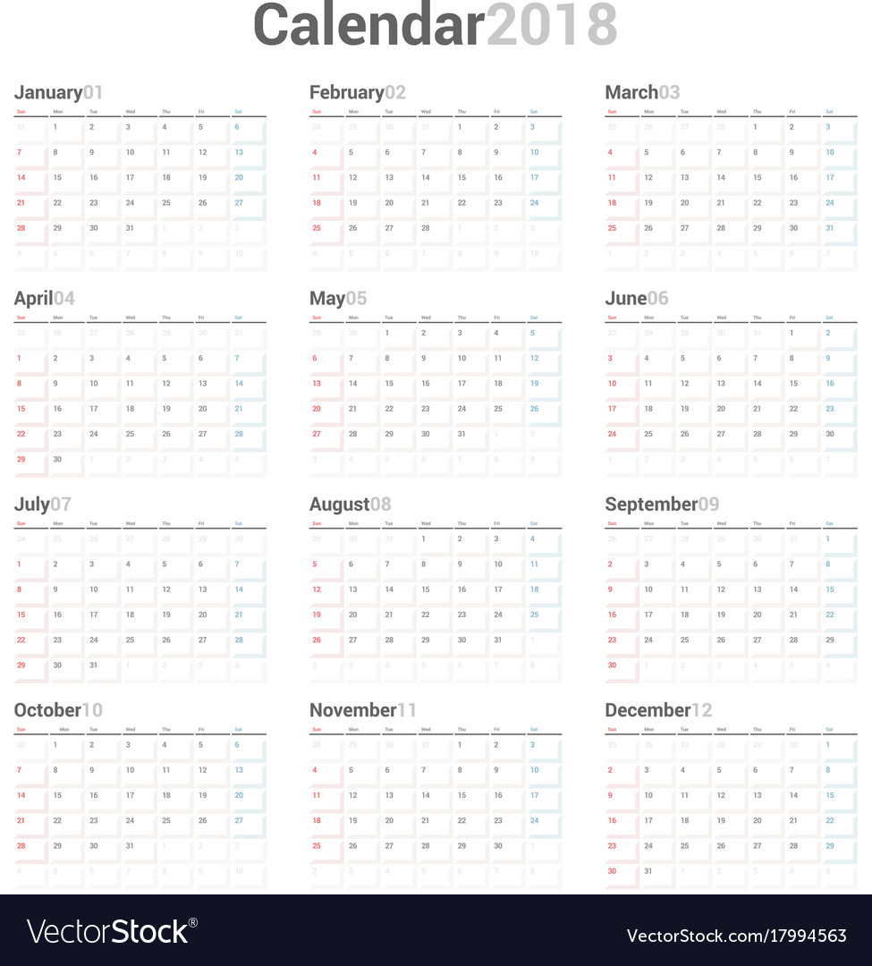 planner templates 2018