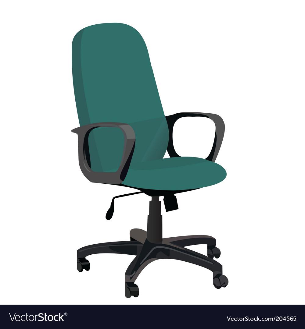 Office armchair vector image