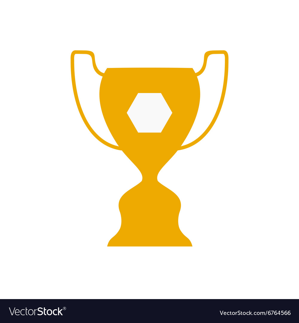 Flat icon on white background football cup