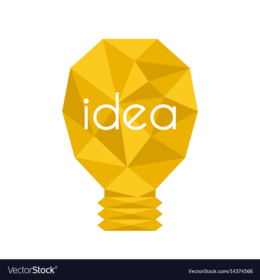 Cartoon lamp light bulb design flat vector image